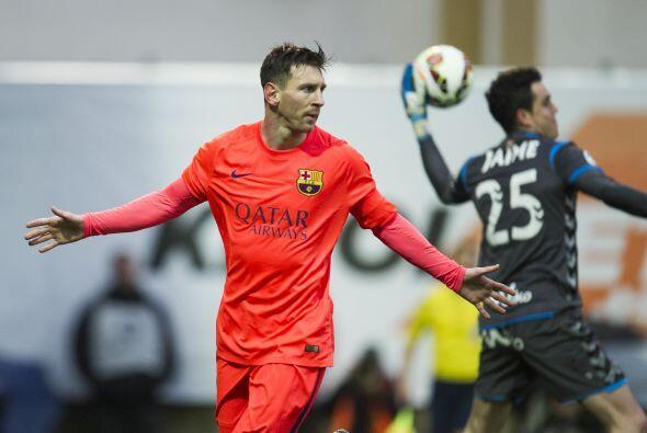 Messi se encargó de convertir el penalti para abrir el marcador a...