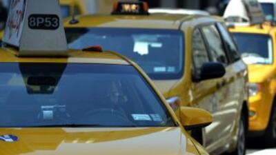 Los icónicos yellow cabs de Nueva York.