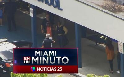 'Miami en un Minuto': autoridades arrestaron a un estudiante que con un...