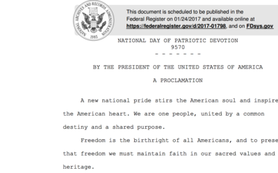 Así comienza el documento de proclamación del Día N...