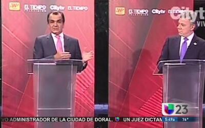 Entre ataques y defensas debate presidencial en Colombia