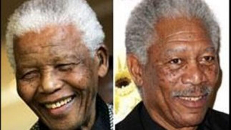Los dos actores han interpretado al expresidente sudafricano en la panta...