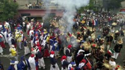 Escenificación de la Batalla de Puebla.