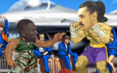 Draymond Green y Steven Adams en Street Fighter
