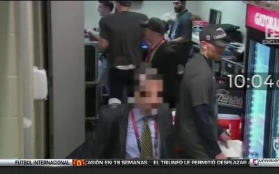 El ladrón de la playera de Tom Brady quedó registrado en estas imágenes