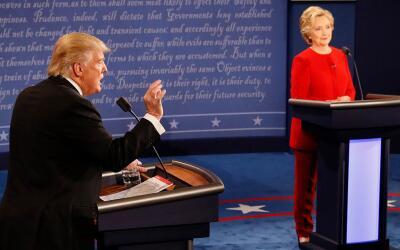 El candidato presidencial republicano Donald trump, durante el primer de...