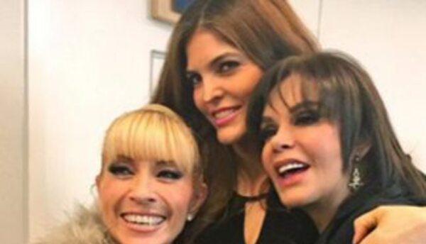 Una de las fotos que publicó Lucía Méndez, junto a Yuri y Ana Bárbara.