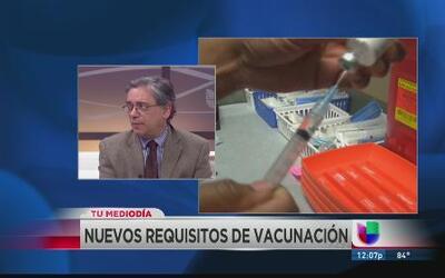 Será obligatoria para los estudiantes la vacuna MCV4 contra la meningiti...