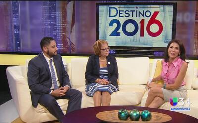 Representantes de Hillary Clinton y de Donald Trump analizan el debate p...