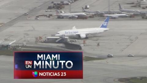 'Miami en un Minuto': molestia de pasajeros en el Aeropuerto Internacion...