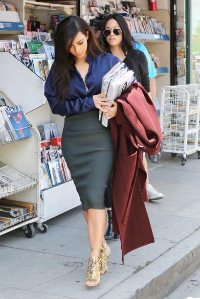 ¿Será porque Kim se la ha pasado asaltando los puestos de revistas llevá...