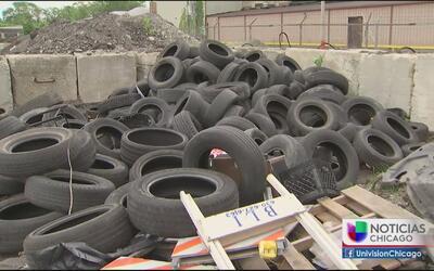 Preocupa un depósito ilegal de llantas en el barrio de las empacadoras