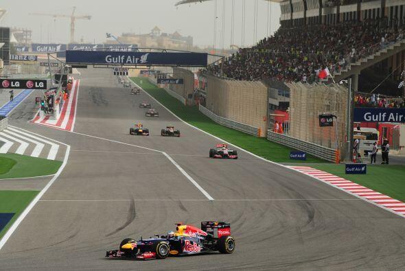 Desde el principio de la competencia, Vettel tuvo una buena actuación.
