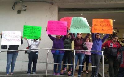 Familias exigen justicia por el Caso Matatena en las instalaciones de la...