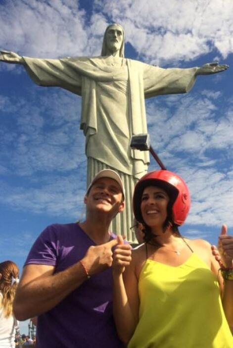 Aprovechando su estancia en Brasil, Maity y Alan decidieron visitar El C...