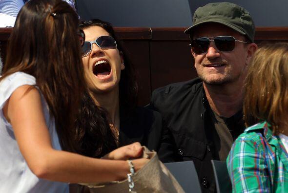 Otra celebridad en Montecarlo, el cantante del grupo irlandés U2, Bono.