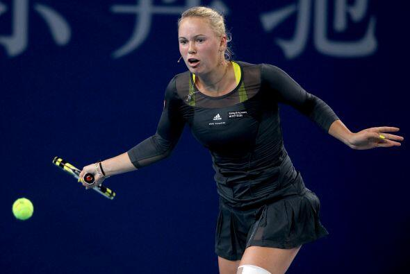 La final del Abierto de China, Caroline Wozniacki frente a la rusa Vera...