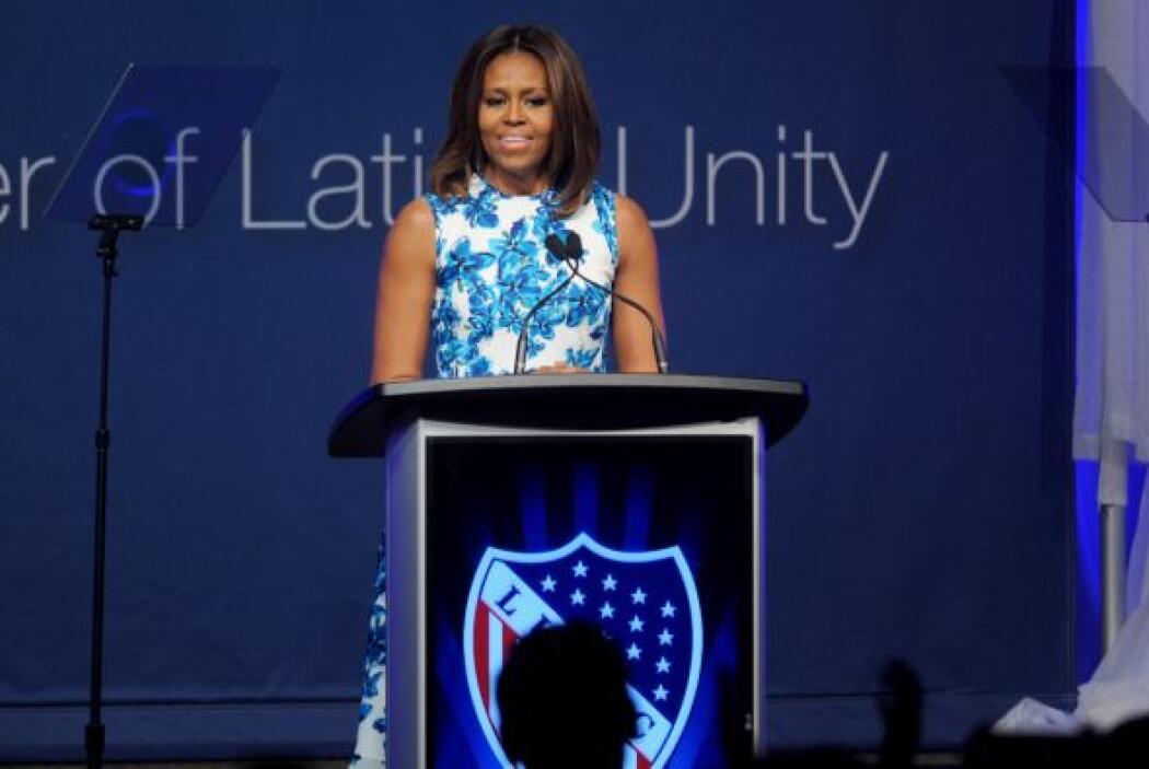 Michelle Obama se dirigió a todos los presentes con unas palabras motiva...
