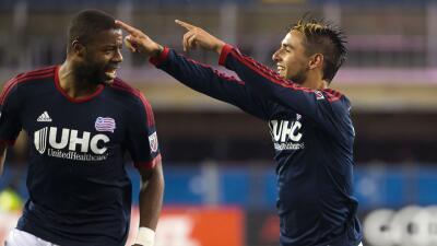 Diego Fagúndez celebra un gol con New England Revolution