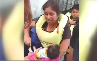 Bebé de 45 días de nacida es rescatada de manera heroica en Perú