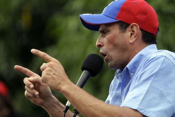 12 de febrero. El opositor Henrique Capriles, gobernador del estado de M...