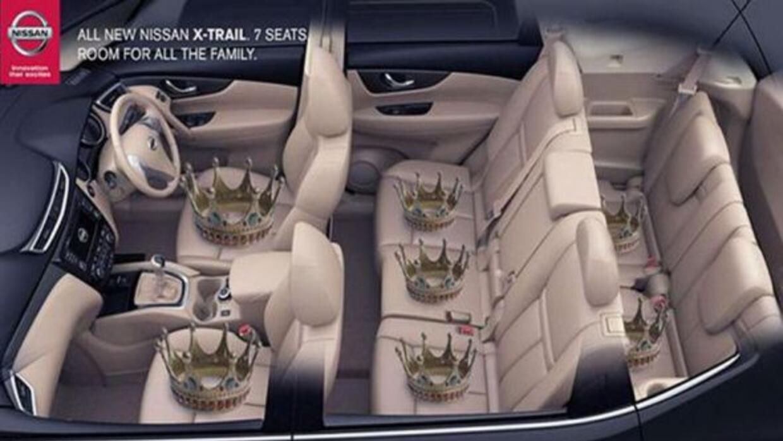 Nissan fue de las primeras marcas en aprovechar la noticia del nuevo beb...