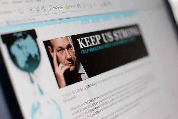 La página de internet comenzó a revelar los cables confidenciales de la...