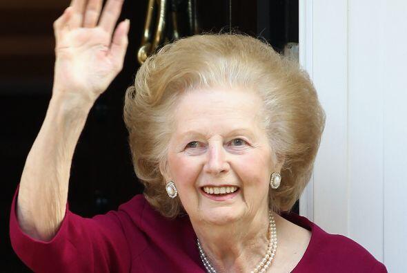 """La popularmente conocida como """"La Dama de Hierro"""", Margaret Thatcher, fa..."""