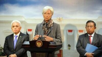 Lagarde dijo que este aumento del proteccionismo se lleva a cabo con dis...