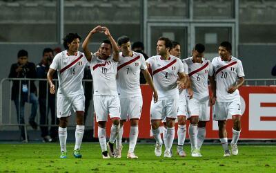 Christian Cuevas celebra su gol ante Trinidad y Tobago.