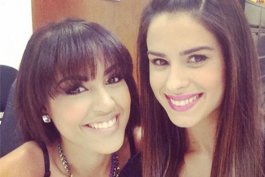 Vanessa estaba feliz de encontrar a su amiga Nabila Tapia.