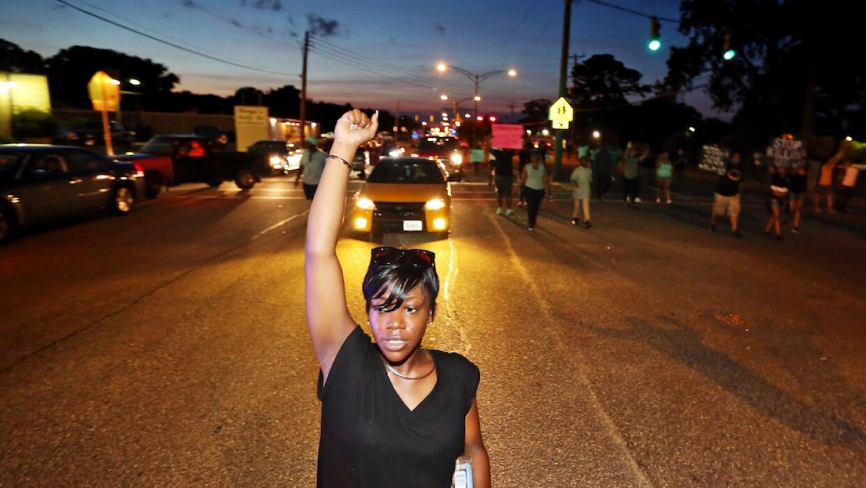 Protesta nocturna del movimiento Black Lives Matter
