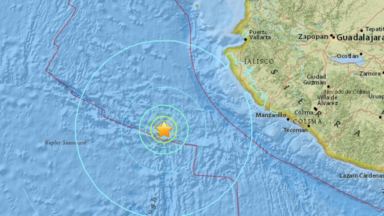 Sismo de magnitud 6.5 en el Pacífico frente a la costa de M&eacut...