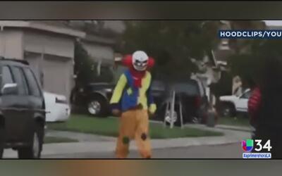 Video capta a payaso huyendo al ser enfrentado por un hombre armado