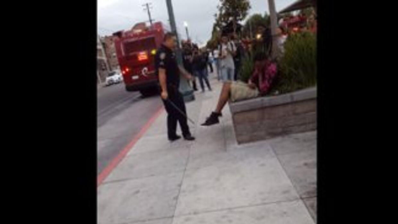 Imagen tomada del video de Youtube en donde se muestra la golpiza.