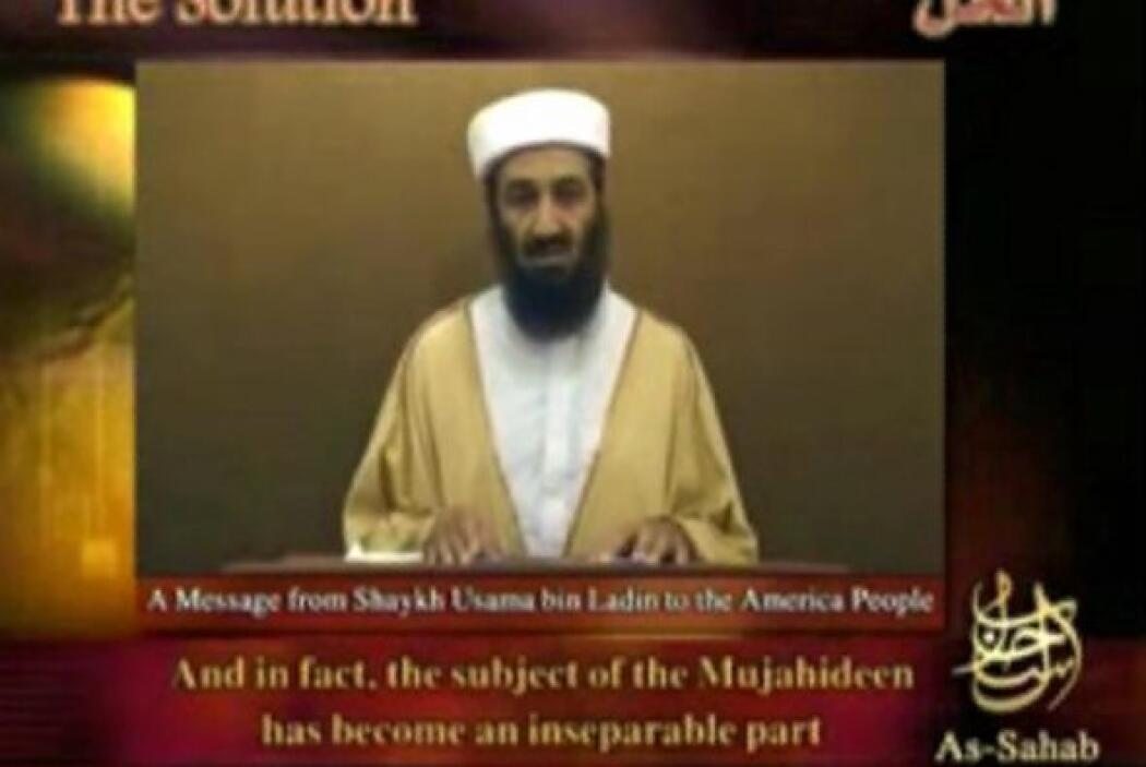 35. Video de Osama Bin Laden  Osama bin Laden se hace presente a través...
