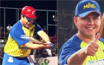 Varios famosos gruperos muestran sus mejores jugadas de béisbol para tra...