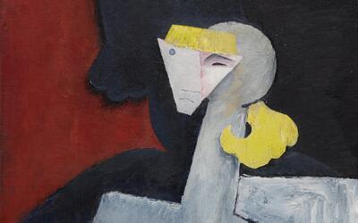 La obra es una muestra de estilo cubista que el pintor mexicano explor&o...