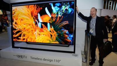 La nueva pantalla 4K de 110 pulgadas de Samsung es una de las estrellas...