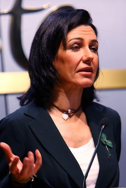 La española Ana Patricia Botín, presidenta de la entidad bancaria Banest...