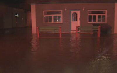 Inundaciones en Sea Bright, Nueva Jersey, por la fuerte tormenta que sac...