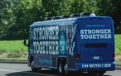 El autobús digital de Hillary Clinton recorre Florida en busca de votos