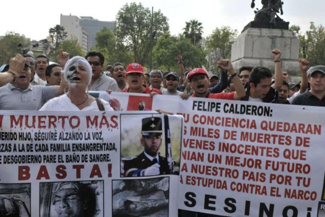 La marcha fue convocada por el escritor y periodista, Javier Sicilia, qu...