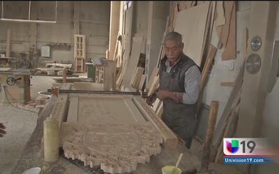 Construyen la silla del papa Francisco