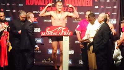 Kovalev sin problemas de peso (Foto: HBO).