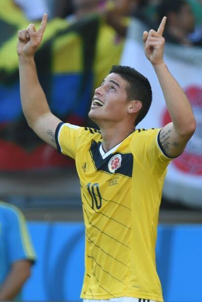 James Rodriguez ganó el premio Puskas a Mejor gol del Año,...