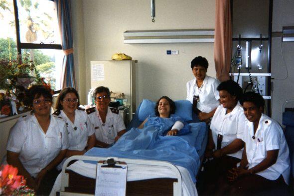 Los doctores aseguraban que el brazo de Joan estaba muy afectado por lo...
