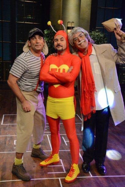 Juntos rindieron homenaje a un grande de la comedia, Roberto Gómez Bolaños