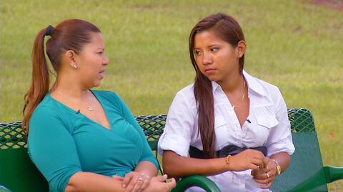 Silvia Mayorga, oriunda de Managua, Nicaragua, y a su hija adolescente, Ana