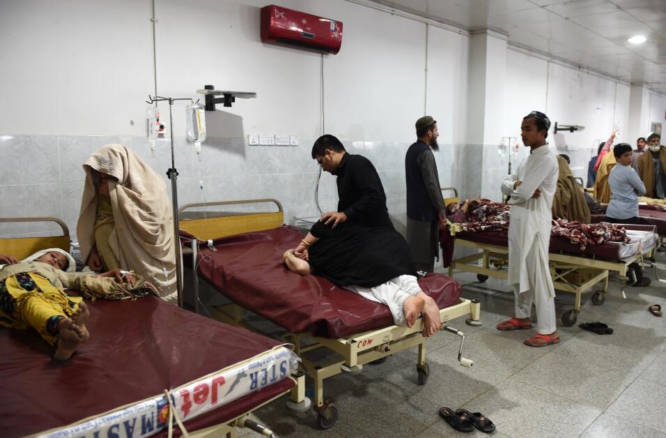 Talibanes piden ayuda para víctimas del terremoto en sur de Asia GettyIm...